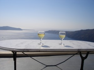 Santorini White Wines & View